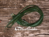 Grizzly dyed Peacock Hair Feathers