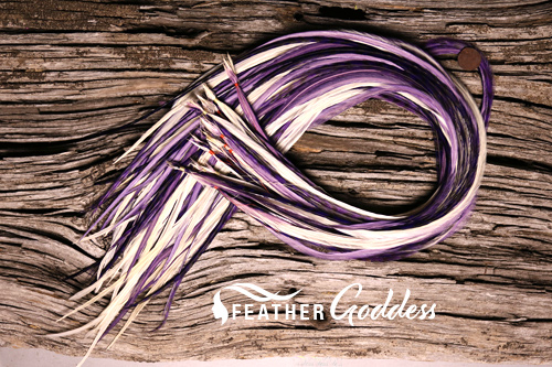 """Purple-Passion Hair Feathers, 14"""" - 16"""""""