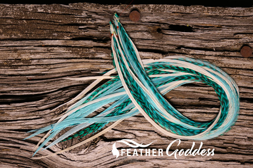 """Seabreeze Hair Feathers, 14"""" - 16"""""""