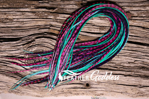 """Wild Child Colored Hair Feathers, 14"""" - 16"""""""