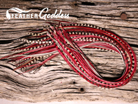 Cranberry Delight Hair Feathers, 14